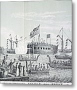 Fulton Steam Frigate, 1814 Metal Print