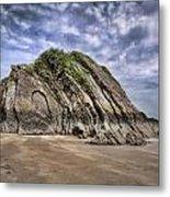Goscar Rock Tenby Metal Print