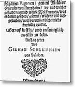 Hans Von Grimmelshausen Metal Print