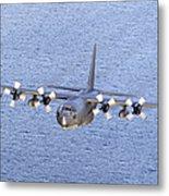 Mc-130p Combat Shadow In Flight Metal Print