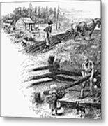 Oregon Trail Emigrants Metal Print