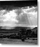 Rain Sun Rays Metal Print