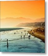 Santa Monica Beach Metal Print