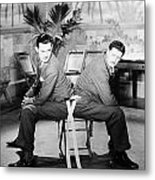 Silent Still: Two Men Metal Print