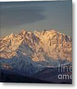 Snow-capped Mountain Metal Print