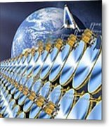 Solar Power Satellite, Artwork Metal Print