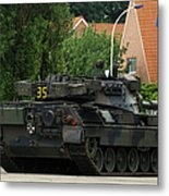 The Leopard 1a5 Mbt Of The Belgian Army Metal Print