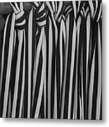 5 Ties In Black And White Metal Print