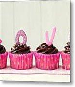 Valentine Cupcakes Metal Print