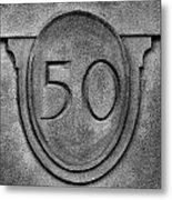 50 Metal Print
