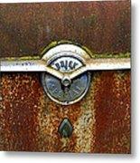 54 Buick Emblem Metal Print by Steve McKinzie