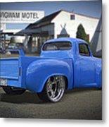 56 Studebaker At The Wigwam Motel Metal Print