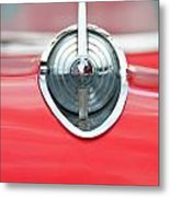 '57 Chevy Hood Ornament 8508 Metal Print