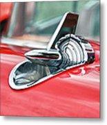 57 Chevy Hood Ornament 8509 Metal Print