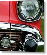 57 Chevy Left Front 8560 Metal Print
