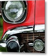 57 Chevy Right Front 8561 Metal Print