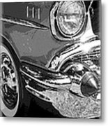 57 Chevy  Metal Print by Steve McKinzie