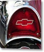 57 Chevy Tail Light Metal Print