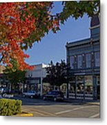 5th And G Street In Grants Pass With Text Metal Print