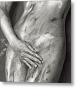 Beautiful Soiled Naked Woman's Body Metal Print