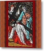 Drumul Crucii - Stations Of The Cross  Metal Print by Buclea Cristian Petru