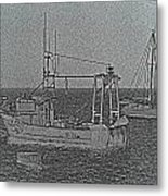 Fishing Boats Art Metal Print