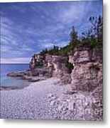Georgian Bay Cliffs At Sunset Metal Print