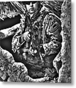 Hdr Image Of A German Army Soldier Metal Print