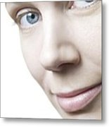 Healthy Woman's Face Metal Print