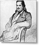 Honore De Balzac (1799-1850) Metal Print by Granger