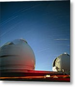 Keck I And II Observatories On Mauna Kea, Hawaii Metal Print