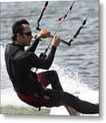 Kite Boarding Metal Print