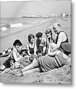 Silent Still: Bathers Metal Print