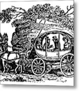 Stagecoach, 19th Century Metal Print