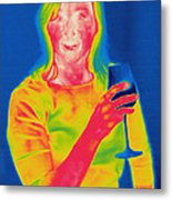 Thermogram Of A Woman Metal Print