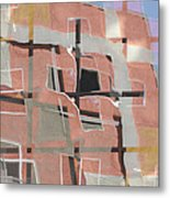 Urban Abstract San Diego Metal Print