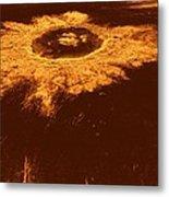 Venus, Synthetic Aperture Radar Map Metal Print by Detlev Van Ravenswaay