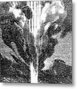 Verne: Earth To Moon Metal Print