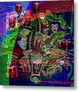 636 People Masks Metal Print