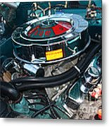 65 Plymouth Satellite Engine-8482 Metal Print