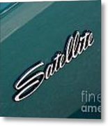 65 Plymouth Satellite Logo-8502 Metal Print