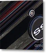 67 Black Camaro Ss Gas Tank-8019 Metal Print