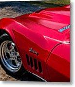 69 Red Detail Metal Print