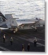 An Fa-18e Super Hornet During Flight Metal Print