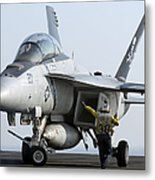 An Fa-18f Super Hornet During Flight Metal Print
