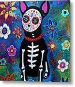 Chihuahua Dia De Los Muertos Metal Print