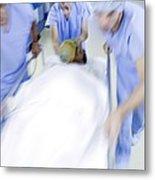 Emergency Hospital Treatment Metal Print by