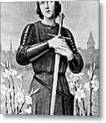 Joan Of Arc, French National Heroine Metal Print