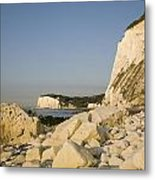 Morning At The White Cliffs Of Dover Metal Print