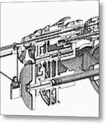 Screw-making Machine Metal Print